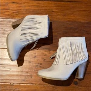 Never worn Soda Fringe Suede Boots